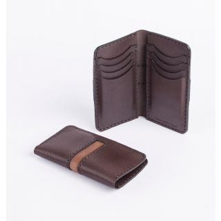 Handmade natural leather Tall card holder -517