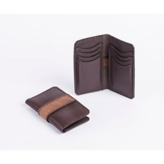 Handmade natural leather Tall card holder -518