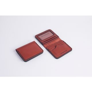 Handmade natural leather Light card holder- 512