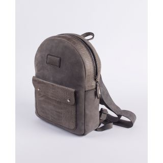 Handmade natural leather Back bag-504