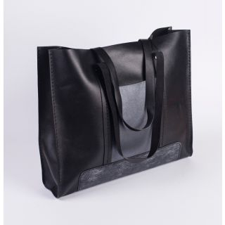 Handmade natural leather woman's bag-502