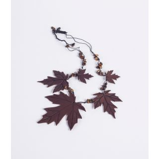 Handmade natural leather necklace