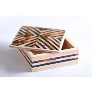 Handmade Jewellery Wooden box inlaid with Mother of pearl