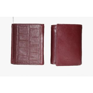 Natural leather wallet-909