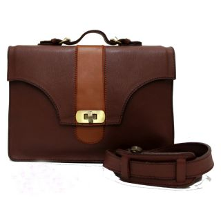 Natural leather work bag-907