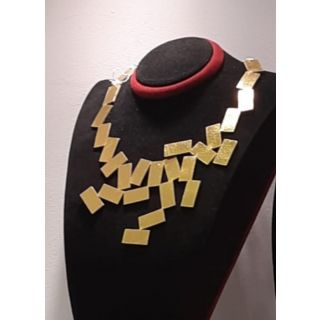 Rectangle Necklace  made from natural leather-2020