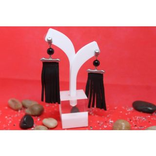 Fringe Earing made from natural leather-2040