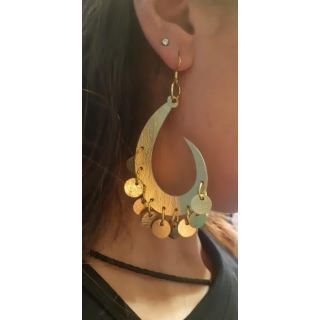 Makhrata Earing made from natural leather-2038