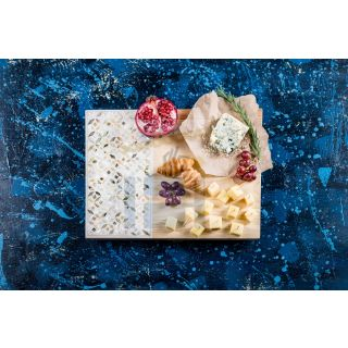 Handmade  Mother of Pearl Cheese platter