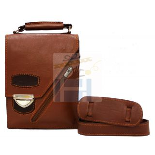 Natural leather cross bag-901